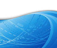 High technology background blue color Stock Images