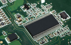 High technology chip Circuit Board Stock Image