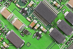 High Technology Circuit Board Macro Close Up Stock Image