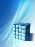 High technology cube. Conceptual background showing an high technology cube. Digital illustration royalty free illustration