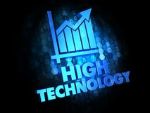 High Technology on Dark Digital Background. Stock Images