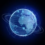 High technology globe Royalty Free Stock Images