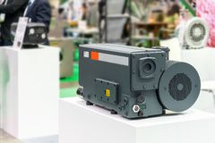 High technology and modern of new Generation high pressure rotary vane vacuum pump for the packaging of food chemical. Pharmaceutical and other industrial royalty free stock photo