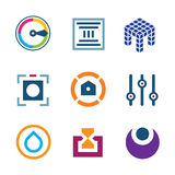 High technology settings optimization digital science developer logo icon Stock Photos