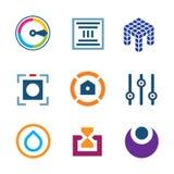 High technology settings optimization digital science developer logo icon royalty free illustration