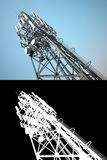 High telecommunications tower Royalty Free Stock Image