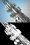 High telecommunications tower Royalty Free Stock Images