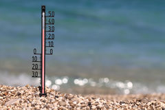 High temperature Stock Photo