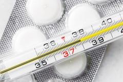 High body temperature. Illness Stock Photo