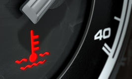 High Temperature Dashboard Light Royalty Free Stock Photography