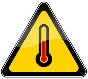High temperature sign Royalty Free Stock Images