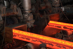 High temperature steel ingots Royalty Free Stock Photography