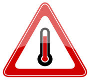 High temperature warning sign Royalty Free Stock Photo