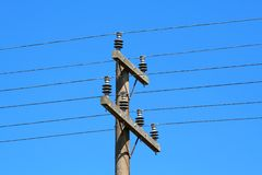 The high tension. In electric wires Stock Images