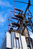 High tension. Picture of switchboard of high tension Royalty Free Stock Photography