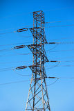 High tension electric pole Royalty Free Stock Photography
