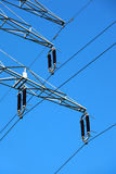 High tension electric pole Royalty Free Stock Images