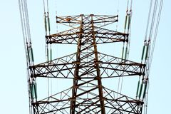 High tension line Stock Photos