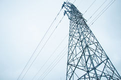 High tension line Royalty Free Stock Images
