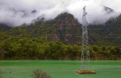 High-tension line Stock Photo