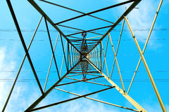 High tension line structure Royalty Free Stock Images