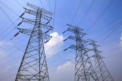 High-tension line Royalty Free Stock Images