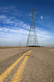 High Tension Lines stock photography