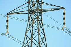High Tension Lines. Power Lines in VA Royalty Free Stock Photography