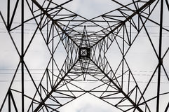High Tension Post Abstract structure Stock Photo