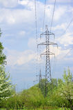High-tension power line Stock Photo