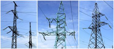 High-tension power line Stock Image