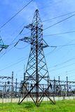 High tension power line Stock Image