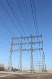 High Tension Power Lines Royalty Free Stock Photography
