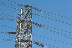 High Tension Power Lines Royalty Free Stock Photo