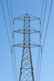 High Tension Power Lines Stock Photo