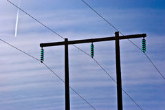 High-Tension power lines Royalty Free Stock Photo