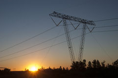 High tension tower Stock Photography
