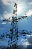 High-tension transmission line Royalty Free Stock Photo