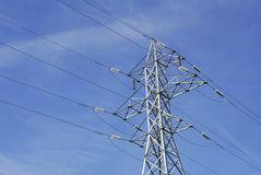 High Tension Wires Royalty Free Stock Photos