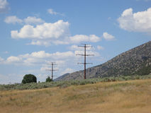 High Tension Wires Royalty Free Stock Photography