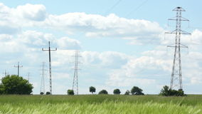 High tension wires stock video footage