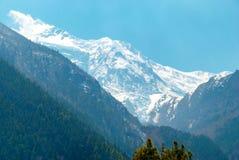 High Tibetan mountains in snow Royalty Free Stock Photos