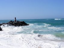 High tide at Agulhas Stock Image