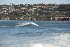 High Tide Coastal Waves Hitting the La Jolla California Shore Royalty Free Stock Photography