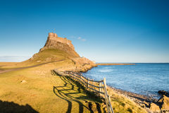 High Tide at Lindisfarne Castle Stock Image