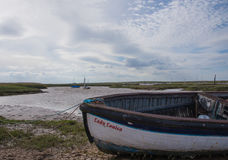 Almost high tide at Staithes harbour royalty free stock photo