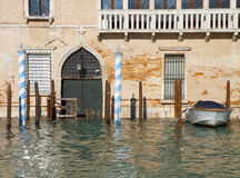 High tide in Venice along the Grad Canal Stock Photos