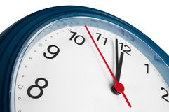 High time just before twelve. Clock with high time just before twelve Stock Photos