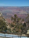 From high a top of a canyon. Somewhere near the Grand Canyon Stock Images