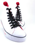 High top sneakers Stock Image